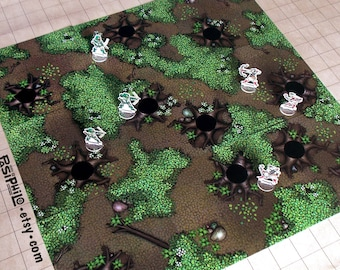 Tabletop RPG Forest Terrain Tiles