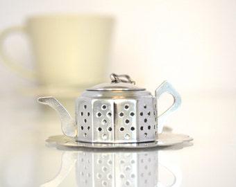 Mini Tea Pot Tea Strainer, Tea Infuser, Tea Party Favor, Tea Favor, Wedding Favor, Bridal Shower Tea, Tea Party Theme, Unique Christmas gift