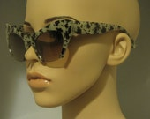 Vintage Super Retro GREEN LEOPARD  print  frame Cat Eye Sunglasses Coachella Hipster Retro Rockabilly Chic Style