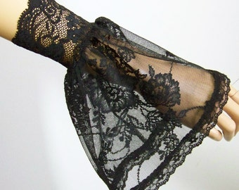 Holidays,Party, Short, Arm Warmers, Black, Lolita, Gothic, Goth, Victorian, Vampire. IDEAL for HER