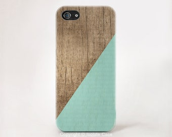 Teal Mint Phone Case Wood Print iPhone 6 Case Wood Print iphone 5 Case iPhone5s Case Wood iPhone 5c case