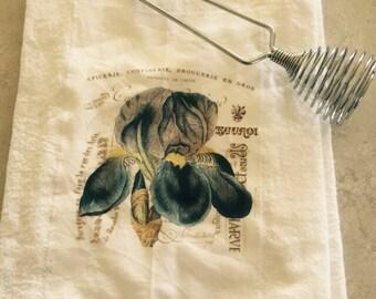 Iris floursack tea towel