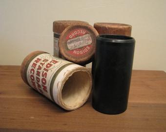 3 Edison Wax Cylinder Recordings
