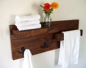 Bathroom Shelves Towel Rack Towel Bar Wood Shelf Bathroom Shelf
