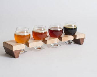Beer Flight Sampler w/ glasses
