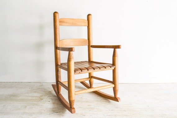 Child S Rocking Chair Child S Wooden Chair Kids By Littlecows