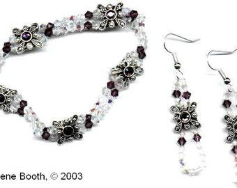 Crystal Elegance Bracelet and Earrings