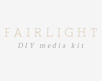 Fairlight DIY media kit - business card, social media .PSD templates - grey watercolor