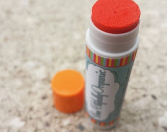Organic Lipstick - Lip Plumper - Orange Lipstick - Orange Lipbalm - Organic Makeup - Orange Lip Balm - Plump My Lips