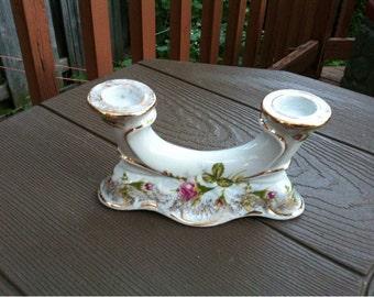 Chodziez Porcelain Ceramic Candle Holder made in Poland