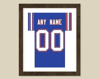 Florida Gators Poster - Personalized Jersey Print - ANY Name & ANY Number - Sizes - 8x10 - 12X18- 16x20 - 18X24 Custom Made to Order