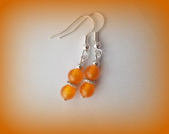 orange earrings - dangle earrings