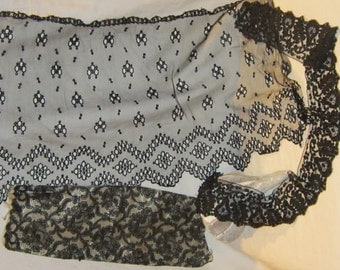 Vintage Black Lace Grouping