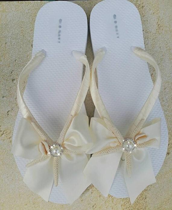 beach wedding flip flops ivory satin rhinestone flip flops sandal