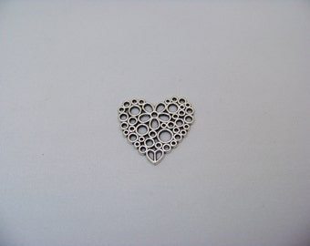 Antique Silver Heart Charm/3459