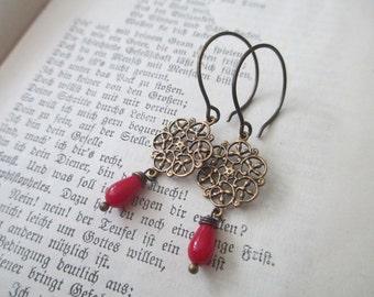 brazen  Earrings  with corail