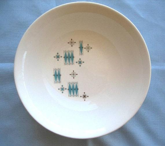 American Mid Century Modern Atomic Age Small Patio Round: Vintage Salem China Bowl In American Ironstone Pattern Atomic