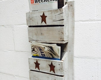 Handmade Magazine rack (double)
