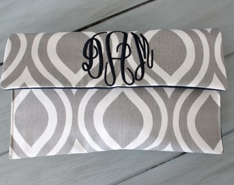 Monogram Clutch Purse, Wallet, Make Up Bag, Bridesmaid Gift, Mothers Day, Personalized Gift, Graduation Gift, Stocking Stuffer