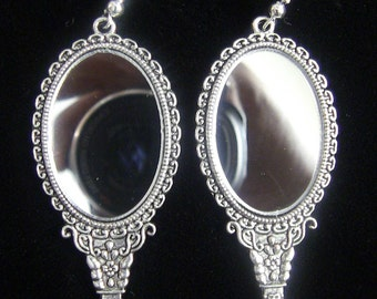 Earrings - Magic Mirror Earrings (real mirrors)