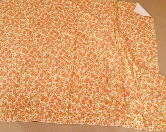 "SALE radical huge piece of vintage retro circa 1960 colorful floral terry cloth fabric 46"" x 54"""