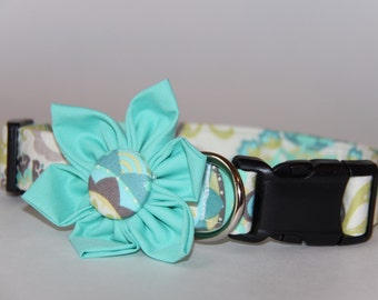 Summer Pastels Dog Collar Flower Set