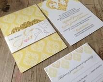 Two Worlds, One Love Thai-American Wedding Invite