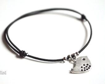 Elastic cord bracelet bird