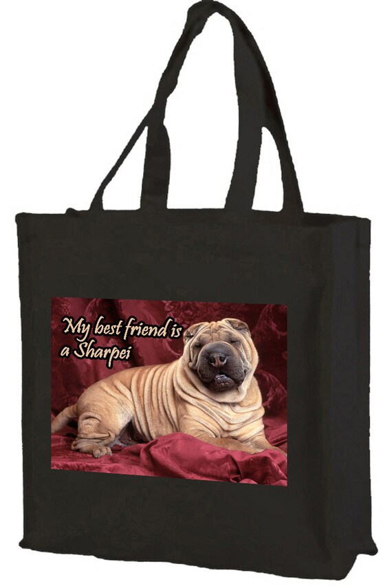 My Best Friend is a Sharpie Shopping Bag with gusset and long handles, 3 colour options