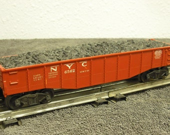 1956-58 Lionel  6562 gondola with coal load.