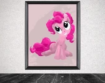 Pinkie Pie Splatter Print