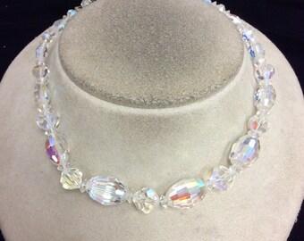 Vintage Aurora Borialis Glass Necklace