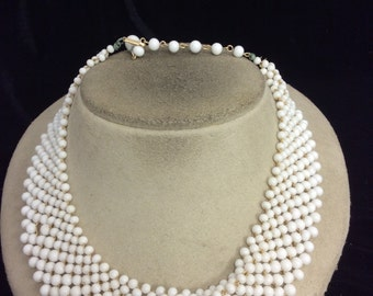 Vintage Milk Glass Collar/Choker Necklace