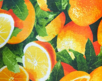 Orange Fruit Poly Cotton Fabric By The Full Yard 5502