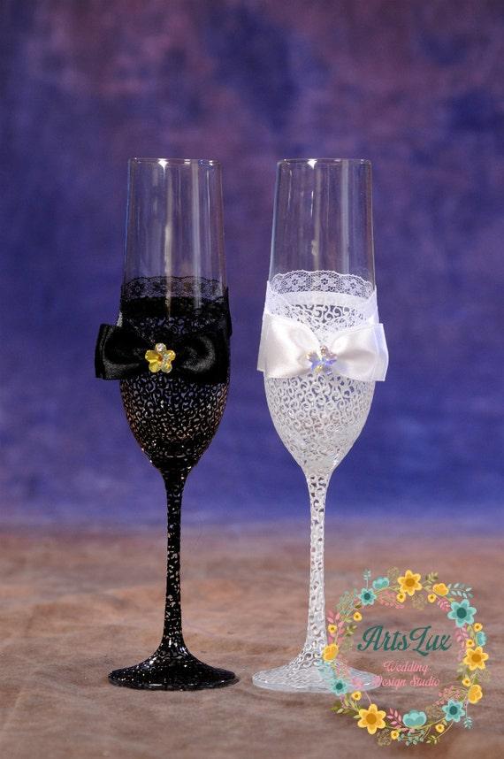 verres 224 chagne mariage avec peint dentelle 224 la motif
