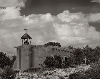 Los Goldrinas Morada Penitente Northern New Mexico Church Black and White Photography New Mexico Santa Fe Fine art print