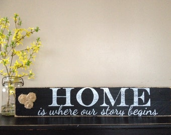 """Lovely Handmade """"home is where our story begins"""""""