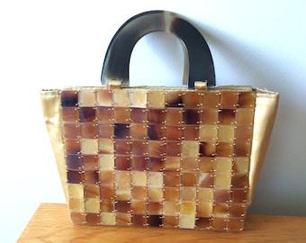 Shiraleah vintage faux tortoise shell purse