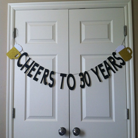 Cheers To 30 Years Birthday Banner/ 30th By WeddingWishlist