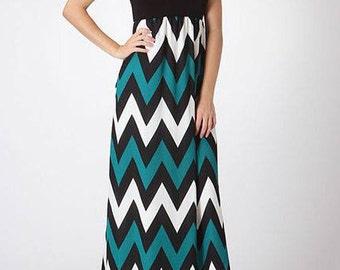 Jade Chevron Maxi Dress