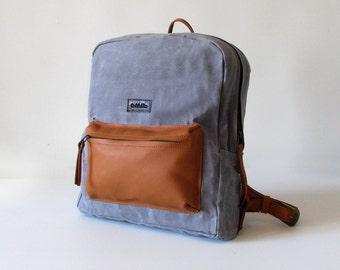 Canvas backpack - Steel
