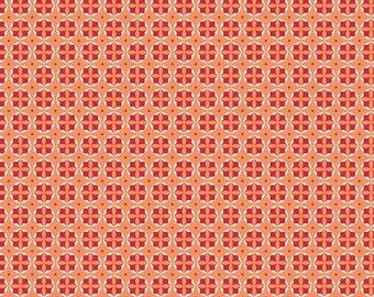 1 yard Modern Mini's by Lori Holt for Riley Blake Circles Orange