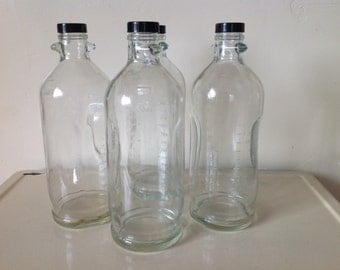 Vintage Medical Supply Abbott 1500ml IV Bottle Set of 2, Glass Medical Bottle