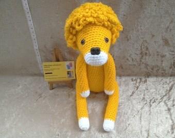 Handmade crochet lion toy, crochet toys, crochet animal, soft animal lion