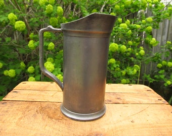 Vintage Pewter 1/2 Liter Measuring Tankard - European Pewter Measuring Cup