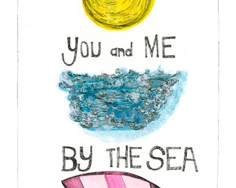 You and Me. Archival Art Print. A4.