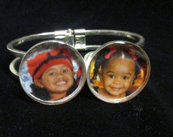 Personalized Photo Bangle Bracelet