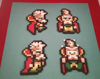 Final Fantasy VI/Final Fantasy III (US) perler bead sprite Strago choose from 1 of 4 stances or get all 4, plain or magnet
