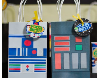 Star Wars Gift Bags; Star Wars Birthday Gift Bags decor; Star Wars decor; Star Wars Party; Star WarsParty Decor
