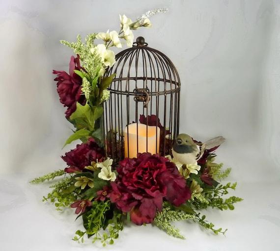 Bird Cage Floral Arrangement Flower Centerpiece Mothers Day